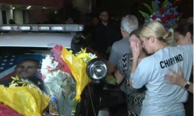 Homenaje a Yandy Chirino, oficial cubano asesinado (Captura de pantalla WPLG Local 10-YouTube)